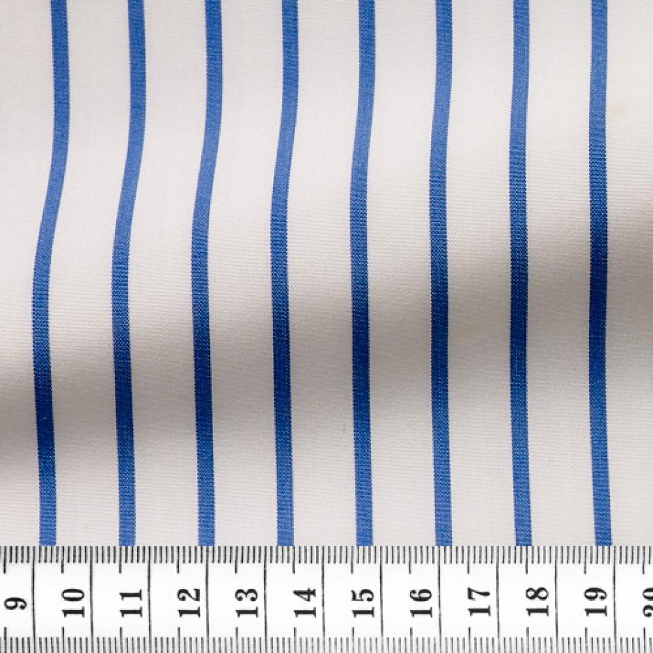 Poplin Stripes White Blue