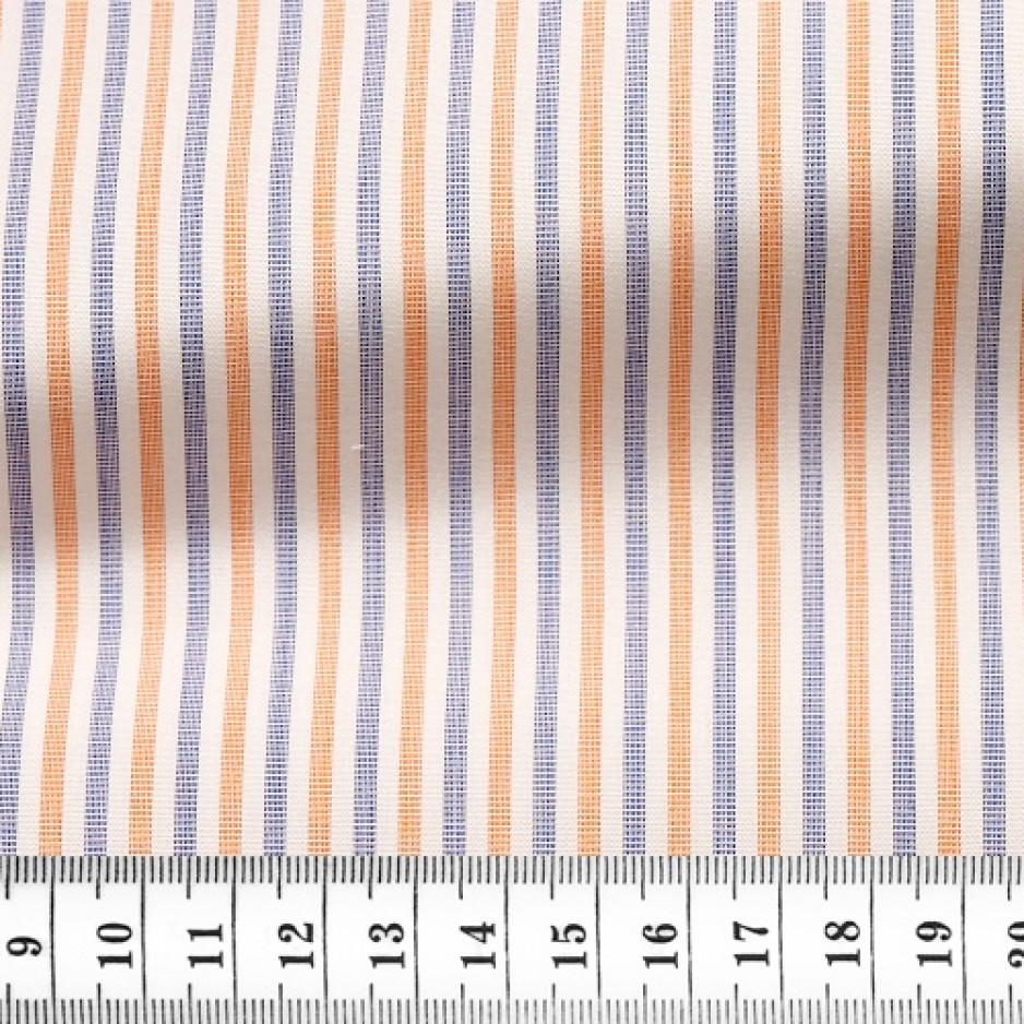 End on End Stripes Blue Orange