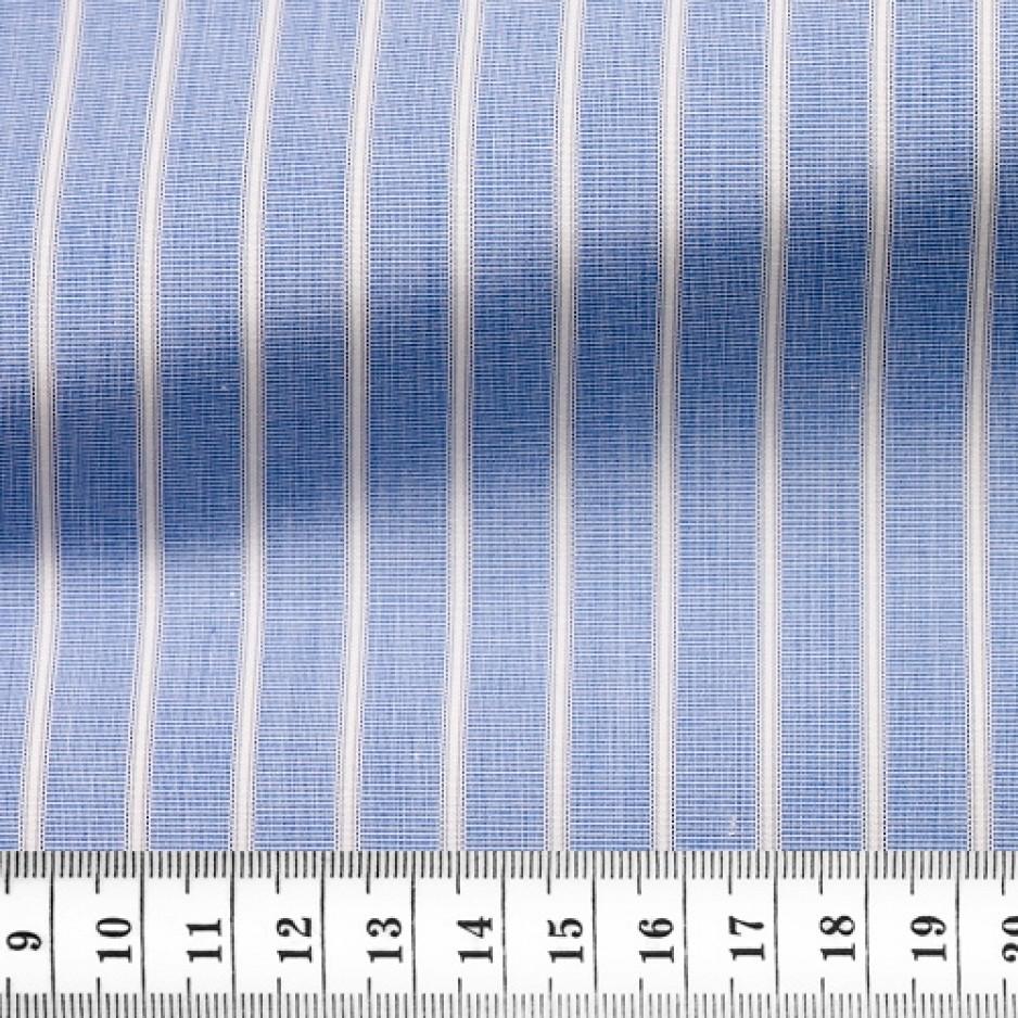 Poplin Stripes Blue Grey