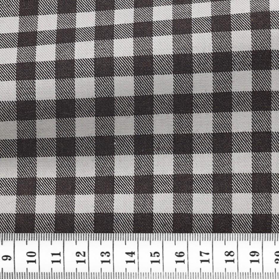 Twill Check Pattern Black