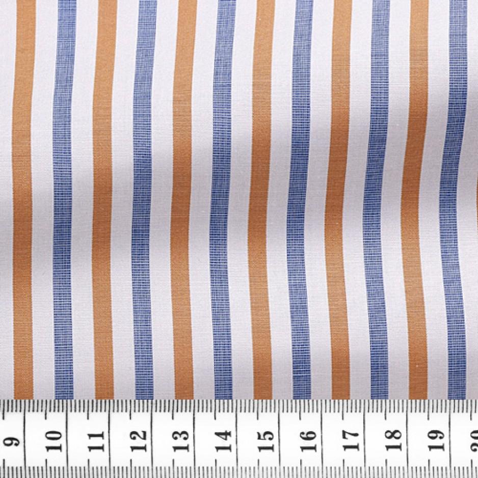 Poplin Stripes Blue Orange