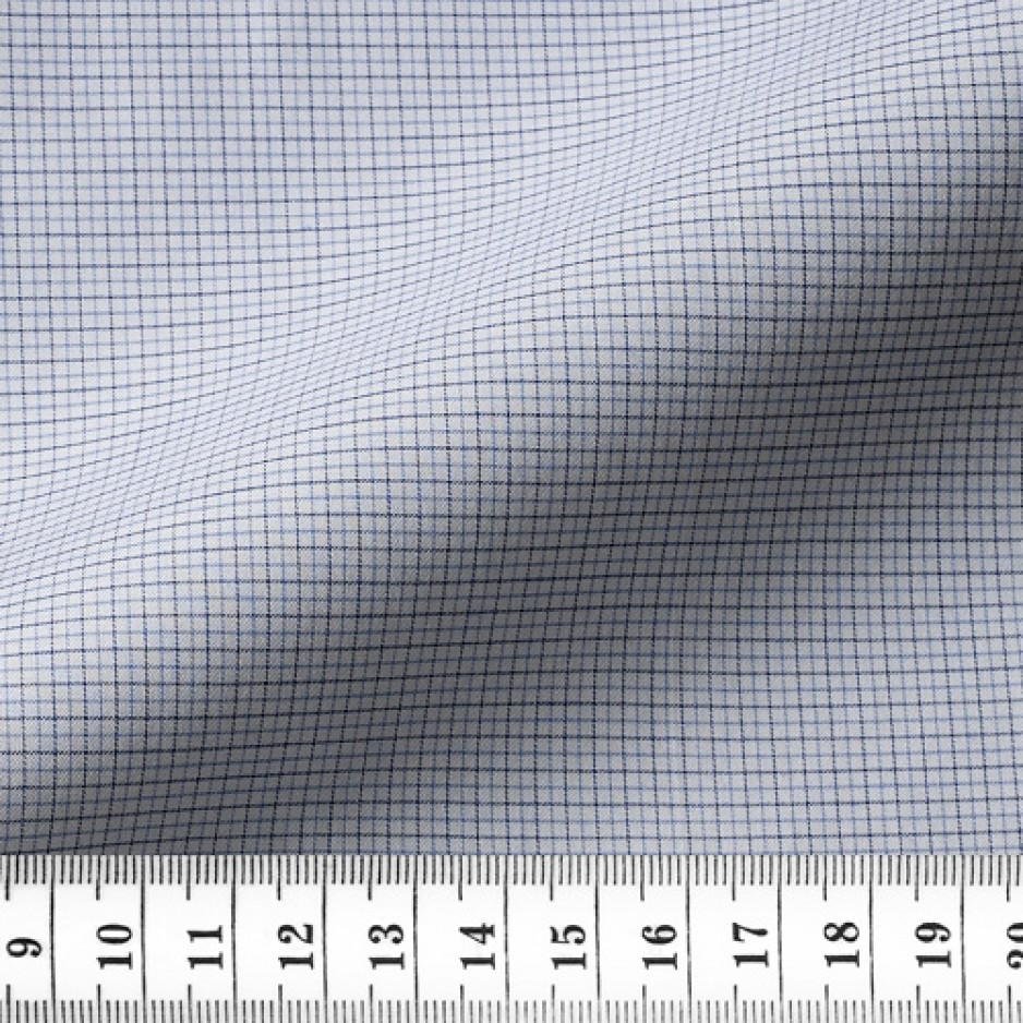 Twill Check Pattern Blue