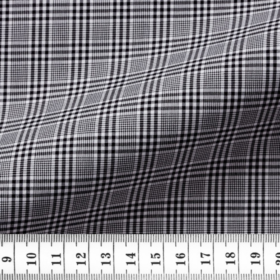 Poplin Check Pattern Black