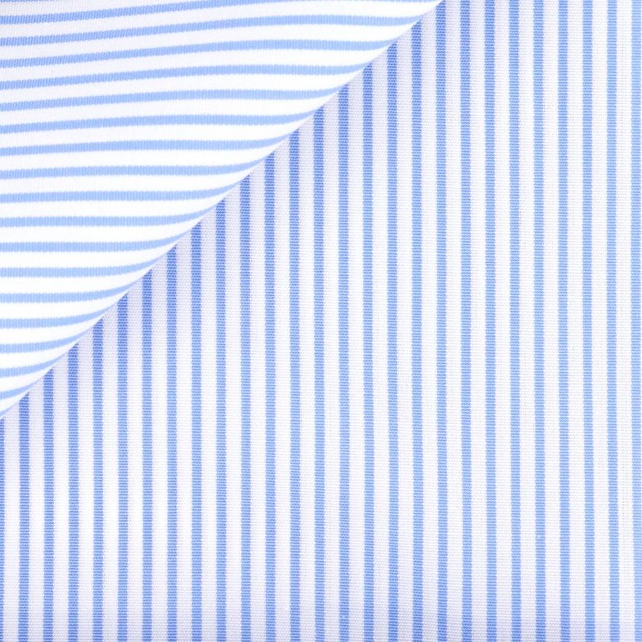 Poplin Stripes Blue (easy care)