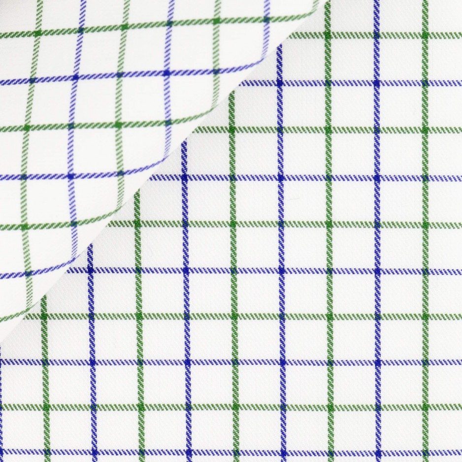 Twill Check Pattern Purple Green