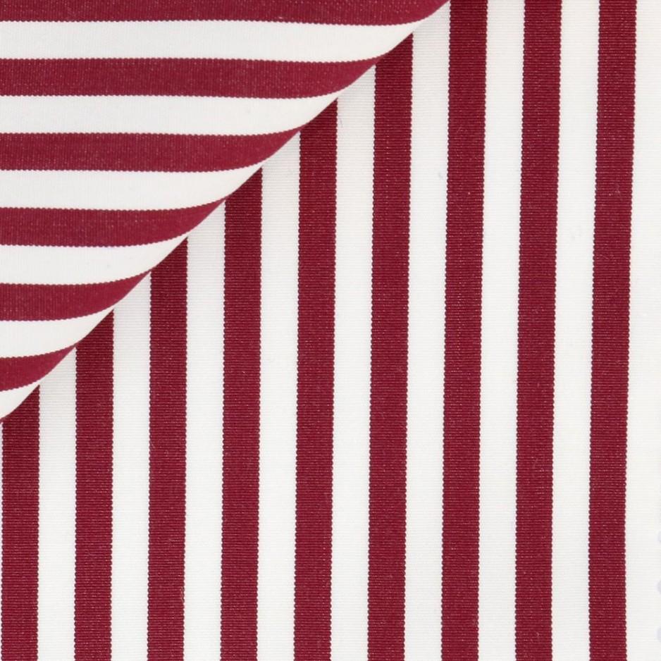 Poplin Stripes Bordeaux