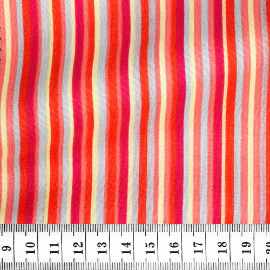 Poplin Stripes Red Yellow
