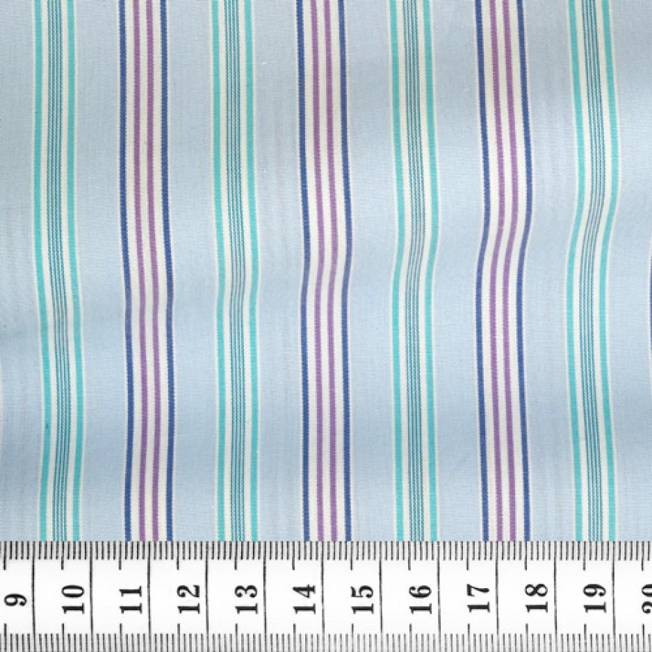 Poplin Stripes Blue Green