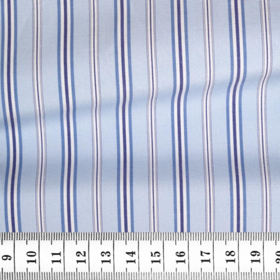 Poplin Stripes Blue