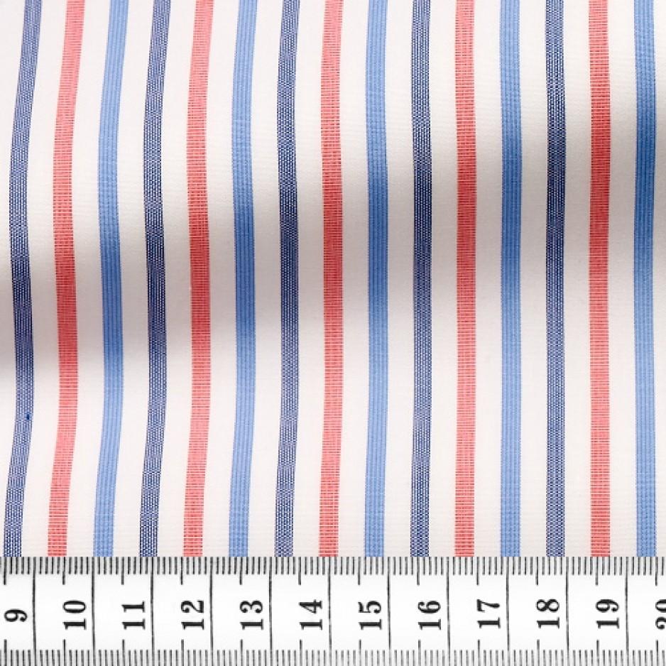 Poplin Stripes Red Blue