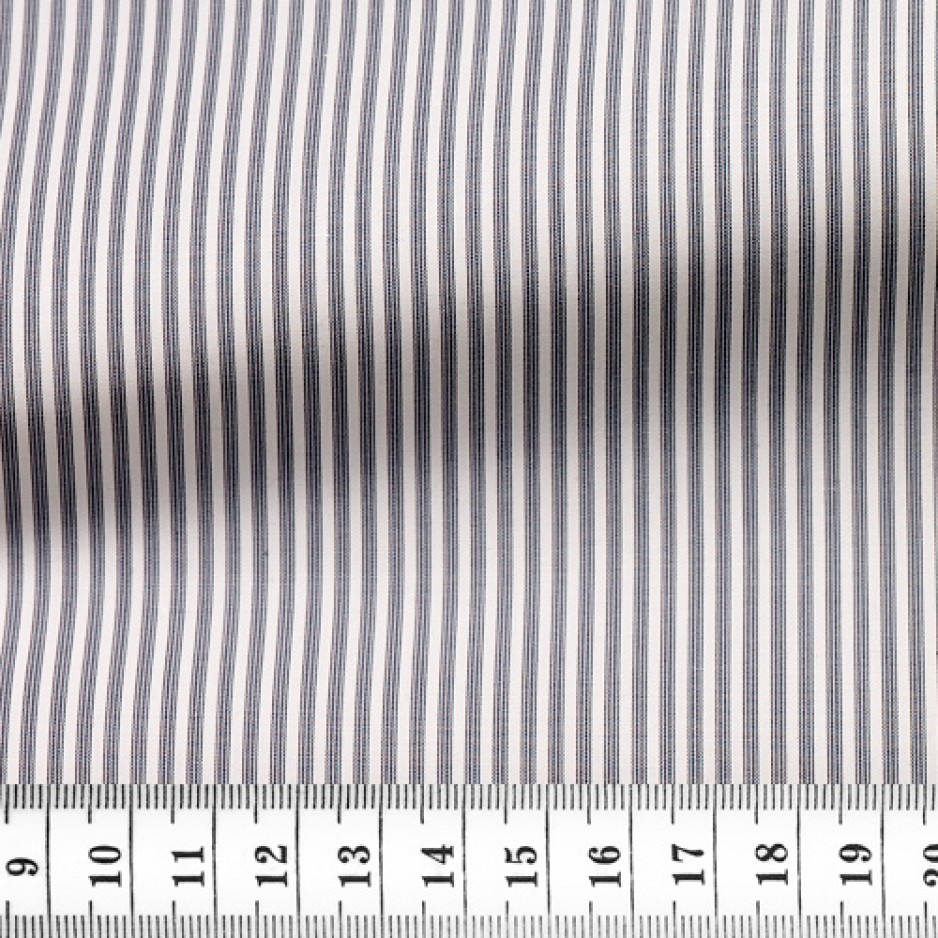 Poplin Stripes Grey Black