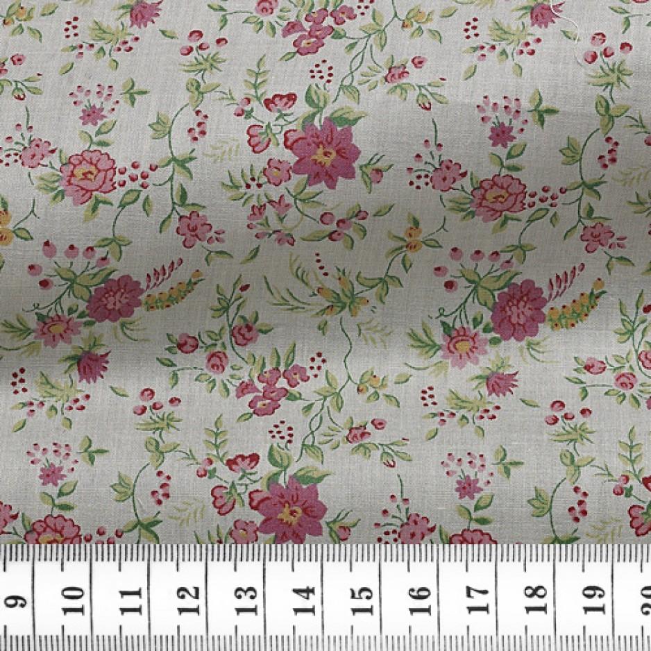 Poplin Pattern Pink Green
