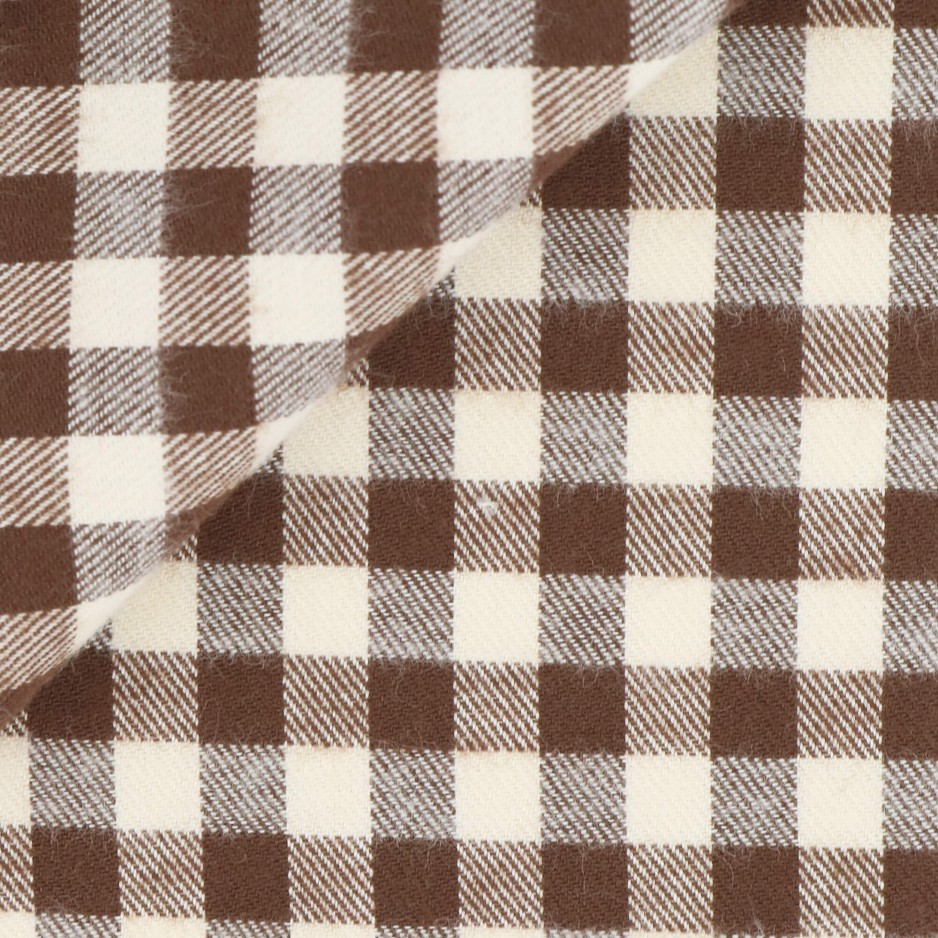 Twill Check Pattern Brown