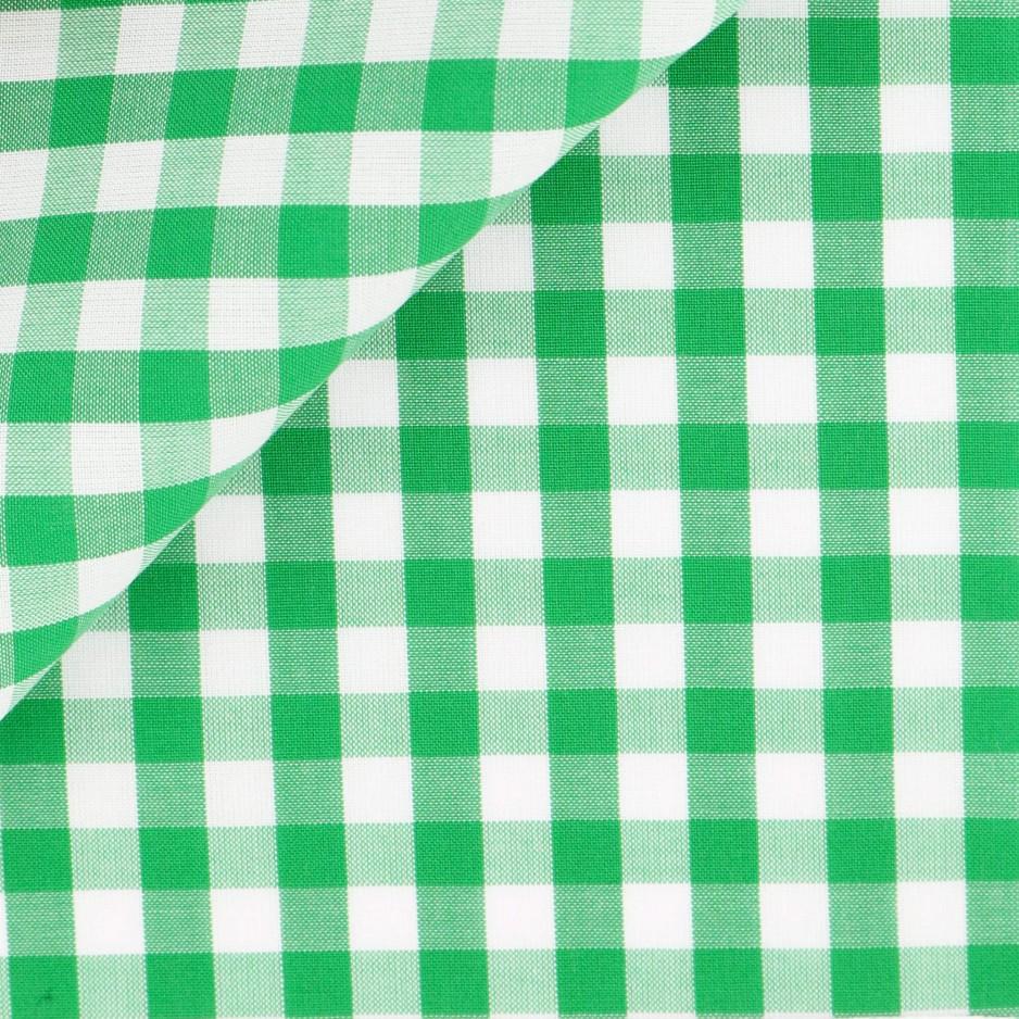 Poplin Check Pattern Green