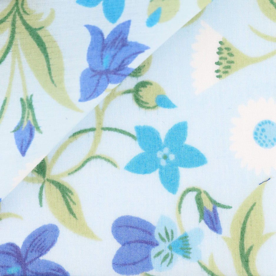 Poplin Pattern Blue Green