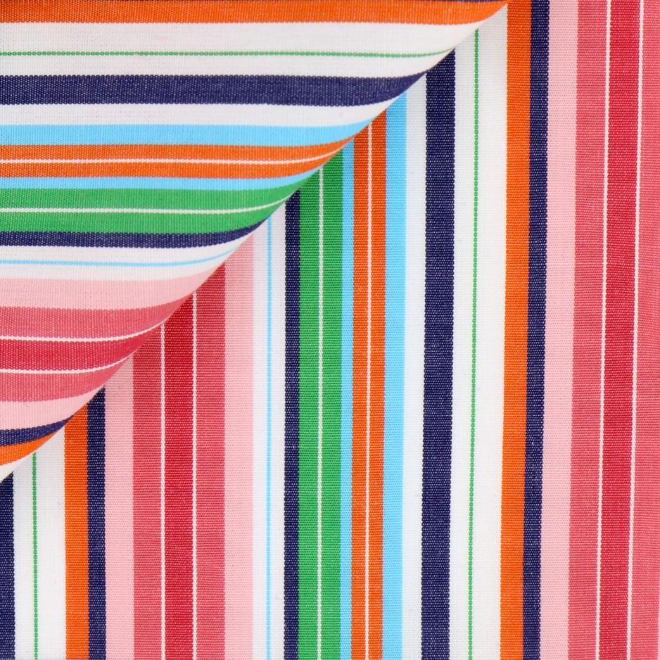 Poplin Stripes Pink Green