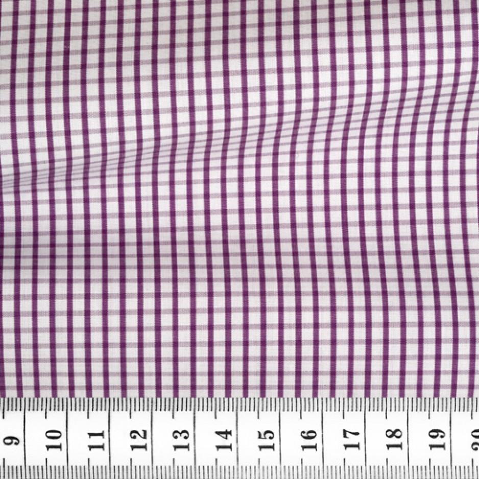 Poplin Check Pattern Purple