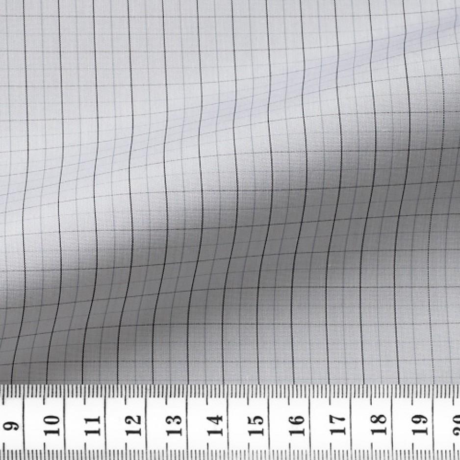 Poplin Check Pattern Black Grey