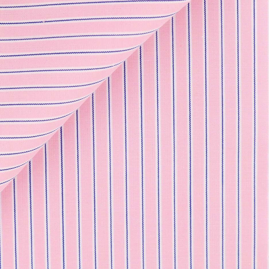 Poplin Stripes Pink Blue