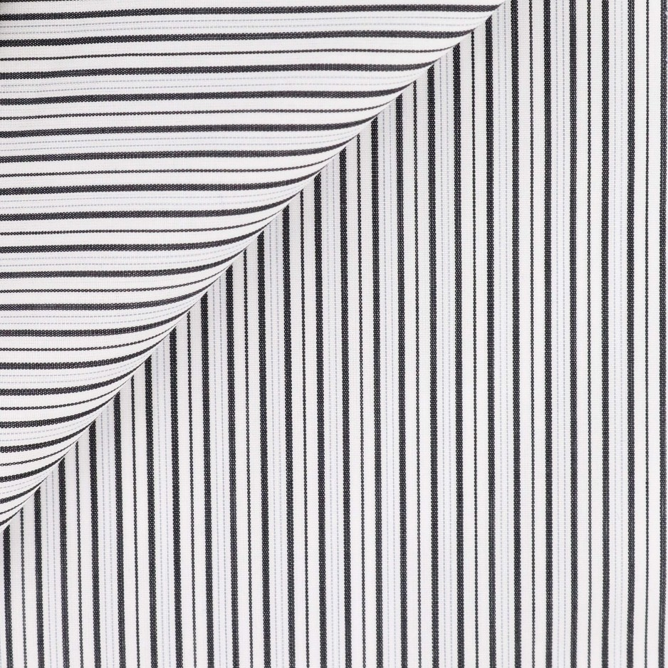 Poplin Stripes Black