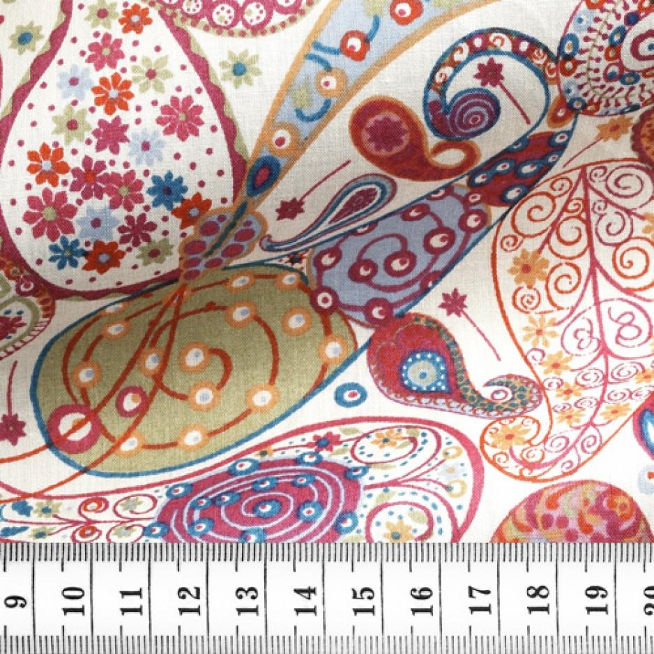 Cotton Pattern Red Orange