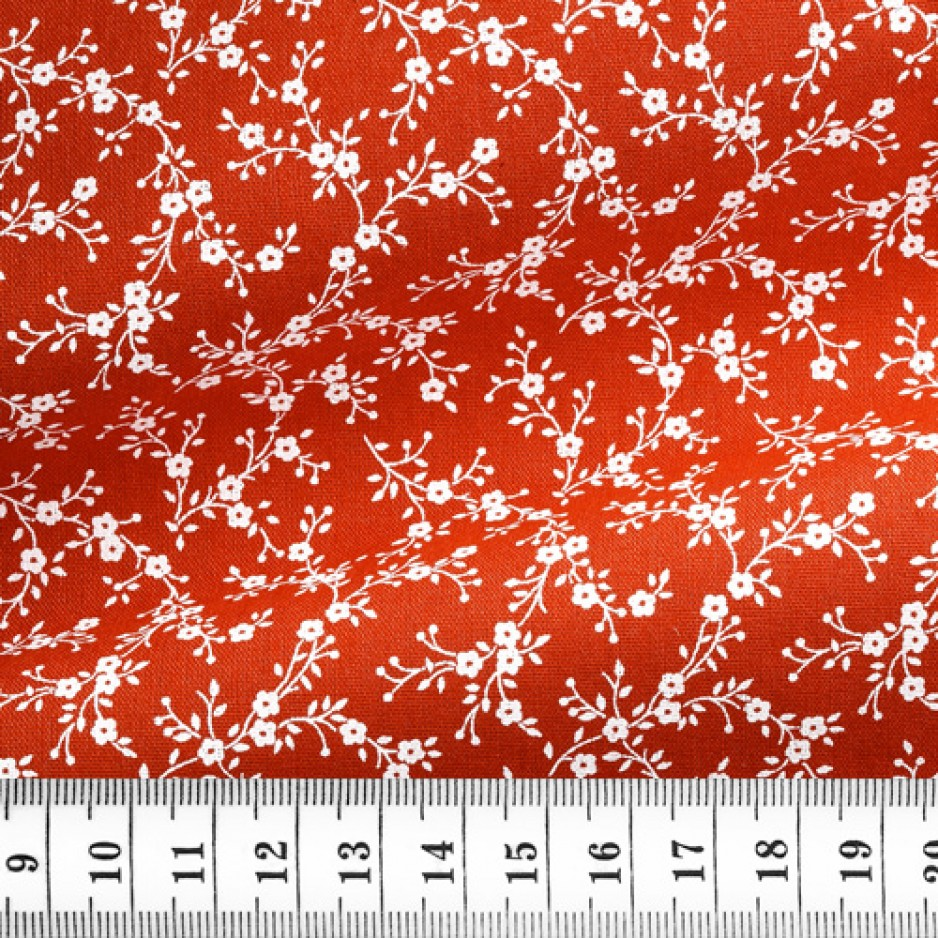 Cotton Pattern Red