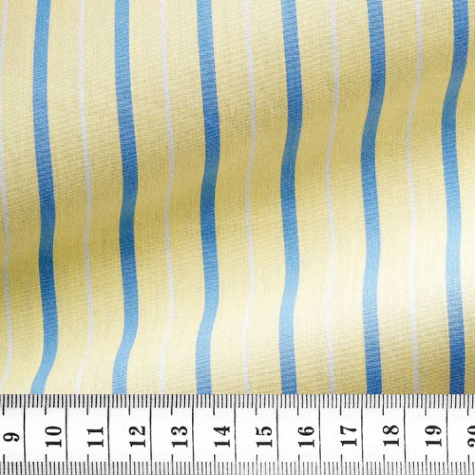 Poplin Stripes Yellow Blue