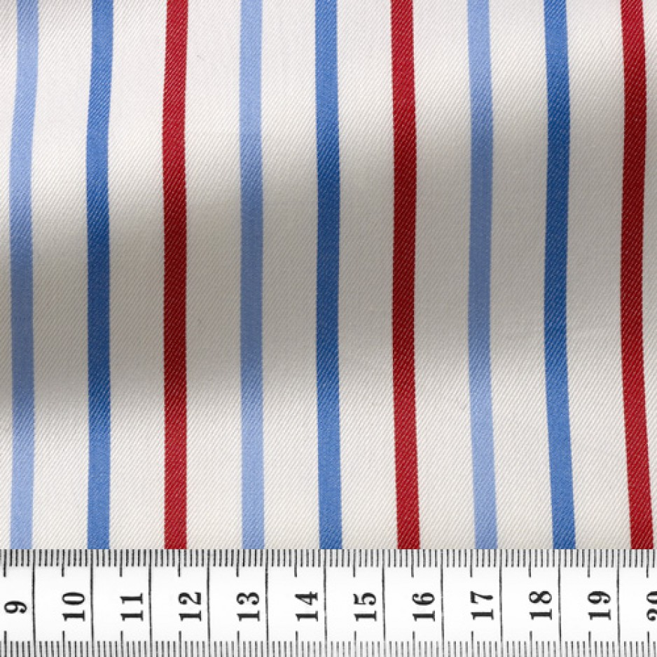 Twill Stripes Blue Red