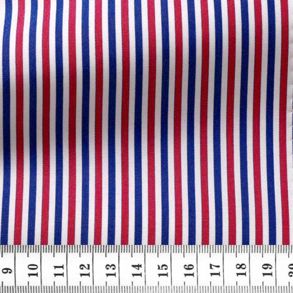 Poplin Stripes Blue Red