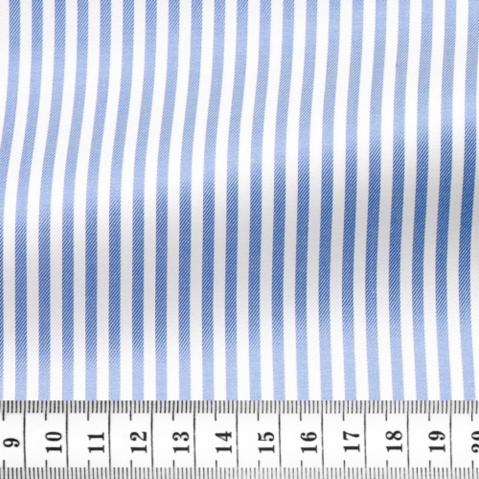 Twill Stripes Blue White