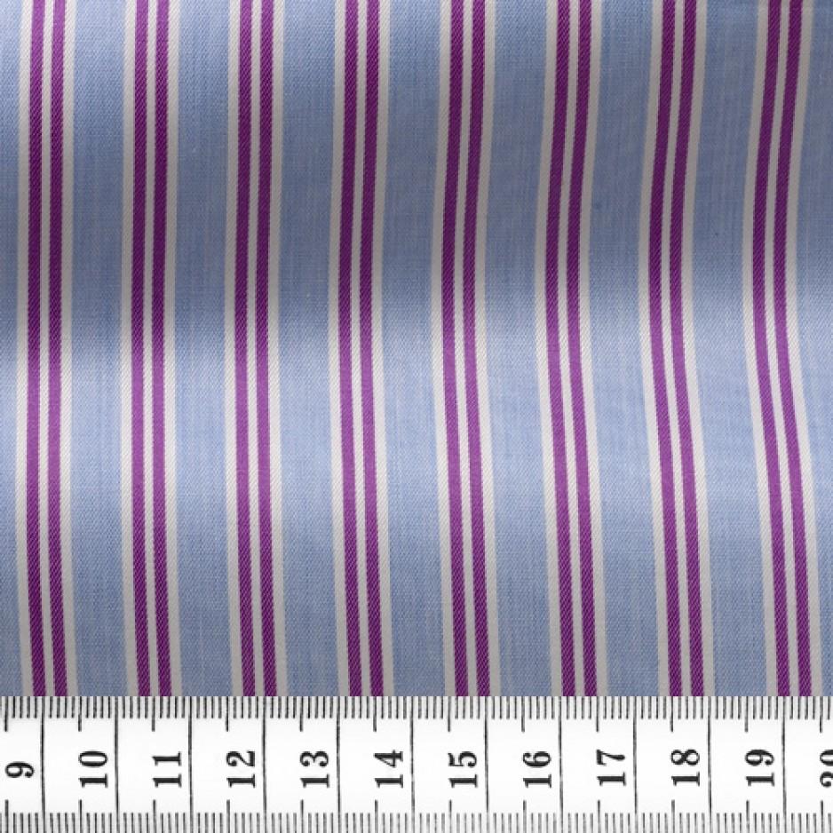 Twill Stripes Blue Purple