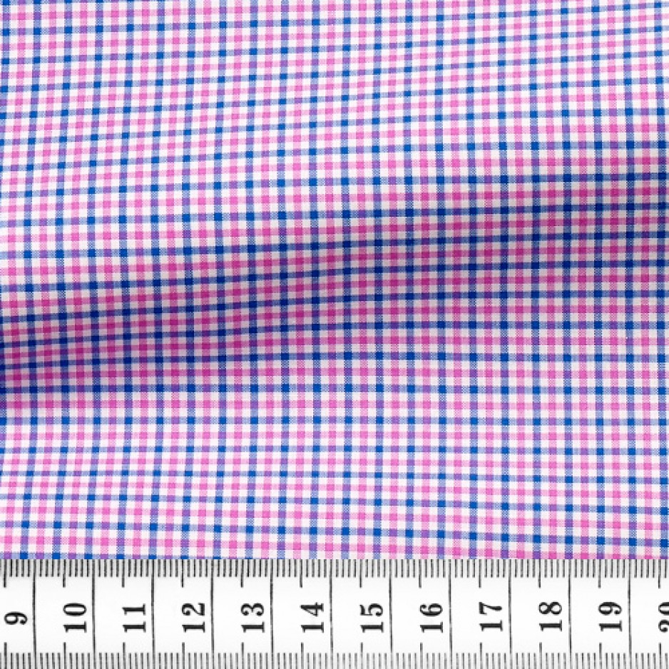 Zephir Check Pattern Blue Raspberry