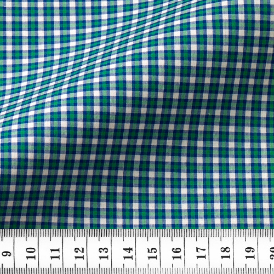 Zephir Check Pattern Blue Green