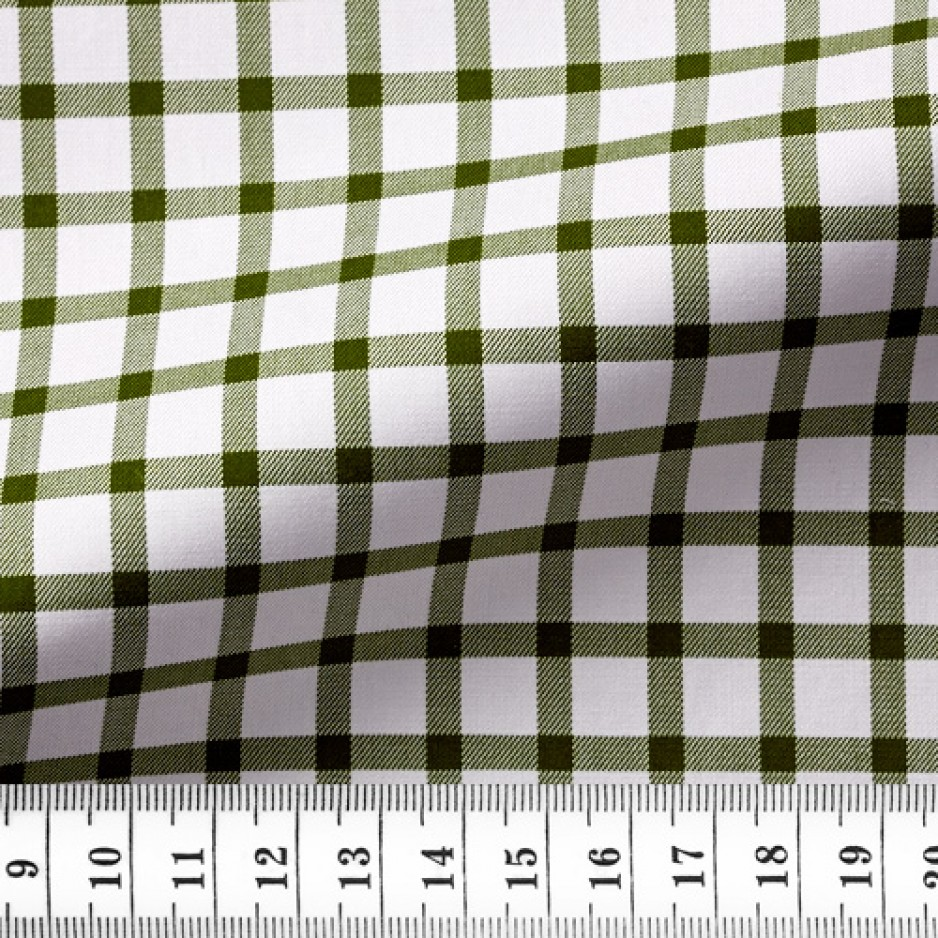 Twill Check Pattern Green