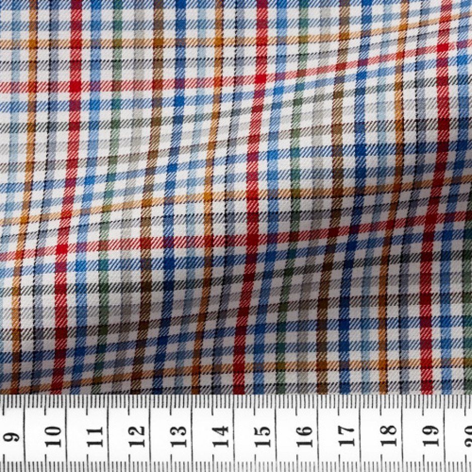 Twill Check Pattern Green Red