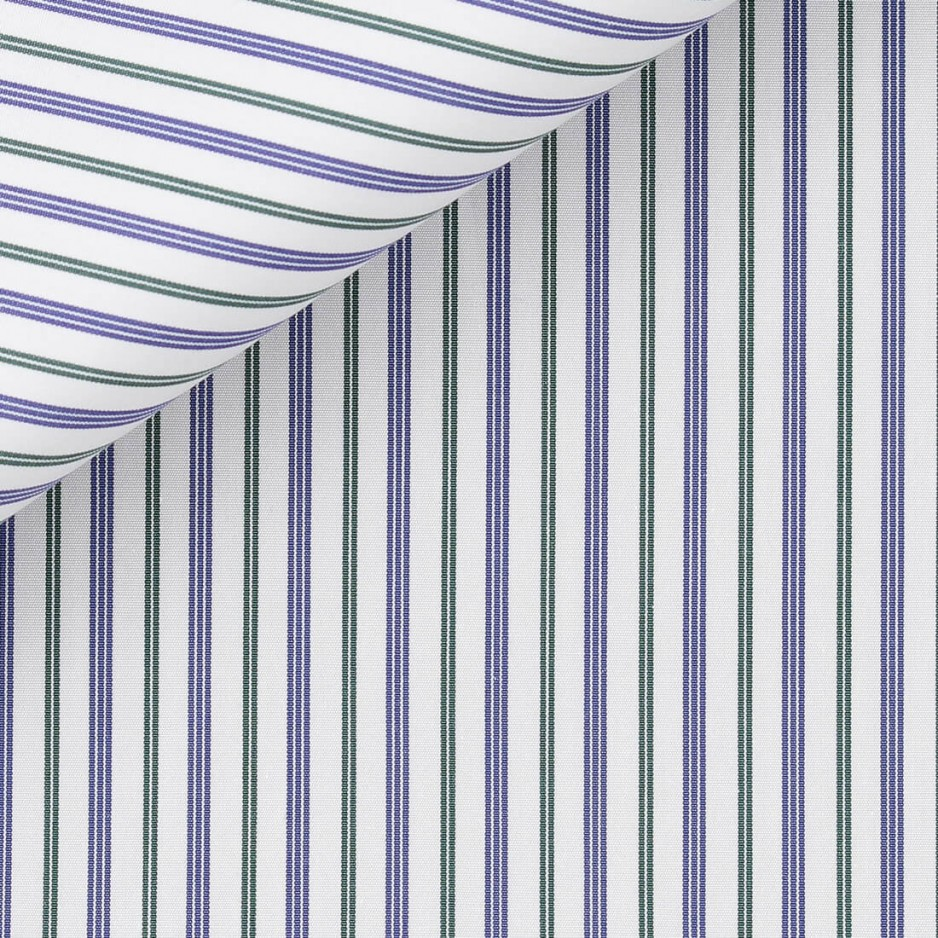Poplin Stripes Blue Green