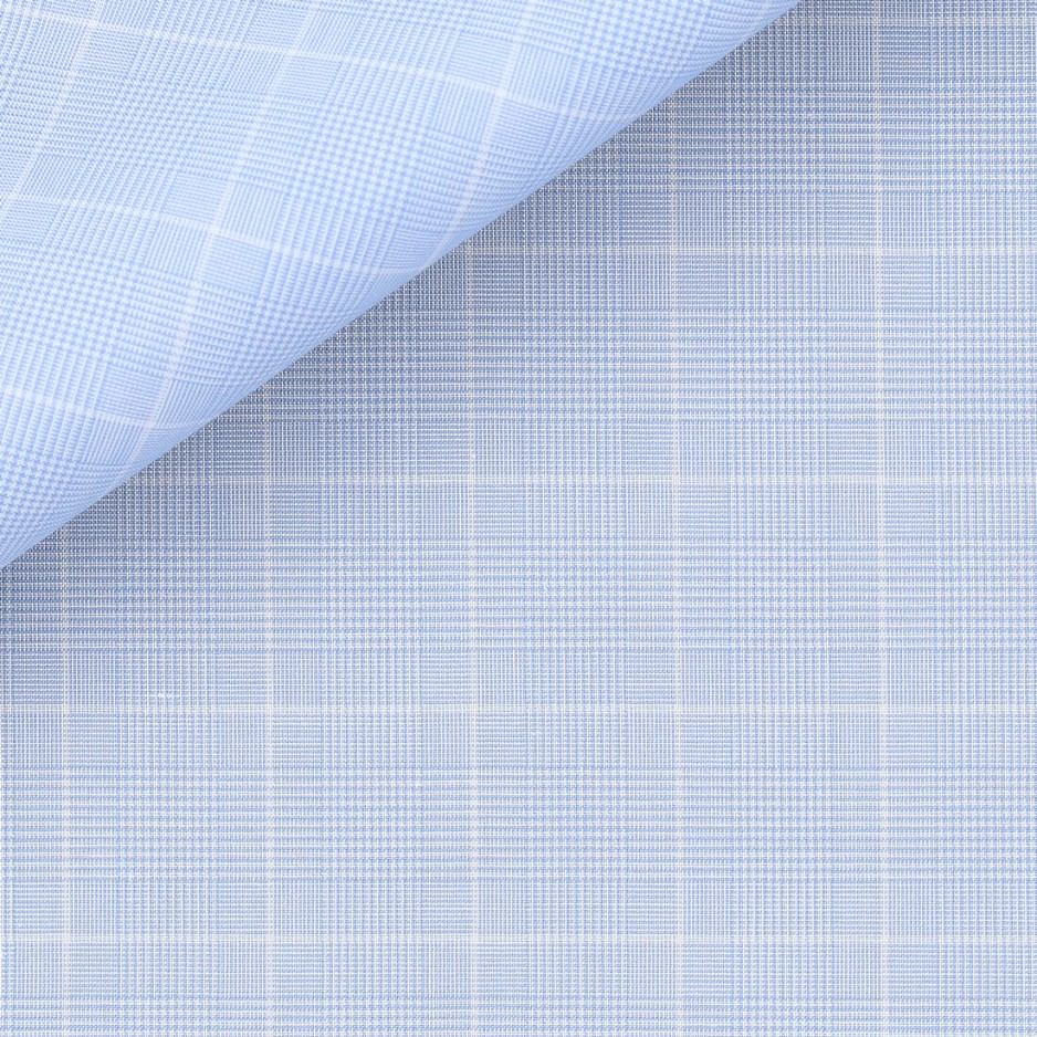 Poplin Check Pattern Blue White
