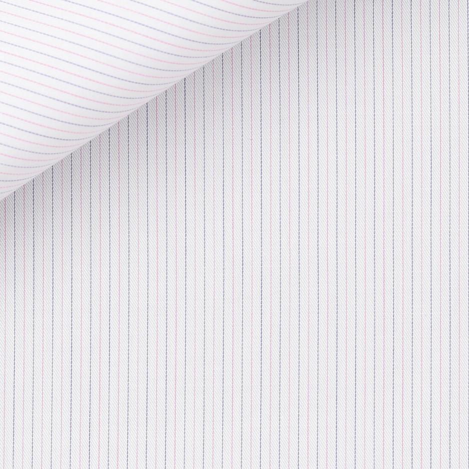Twill Stripes Blue Pink