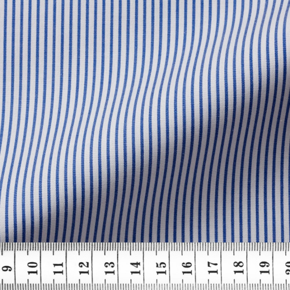 Poplin Stripes Blue