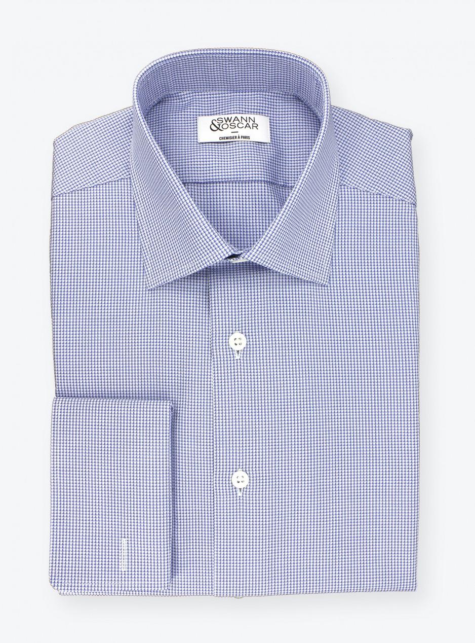 Shirt Blue Pied de Poule