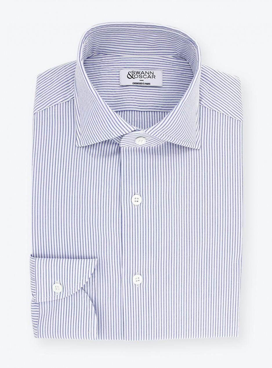 Seersucker Shirt Blue Stripes