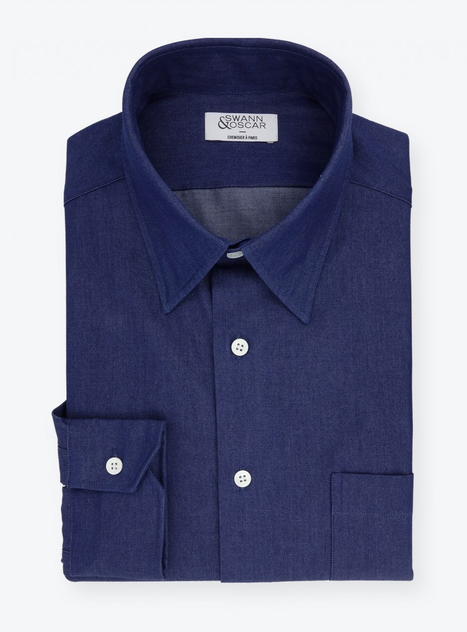 Shirt Twill Plain Blue