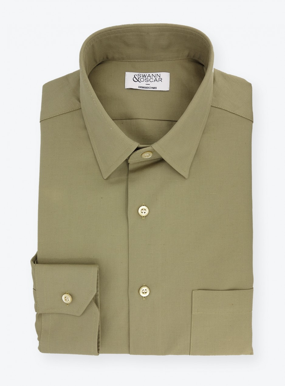 Shirt Twill Plain Brown