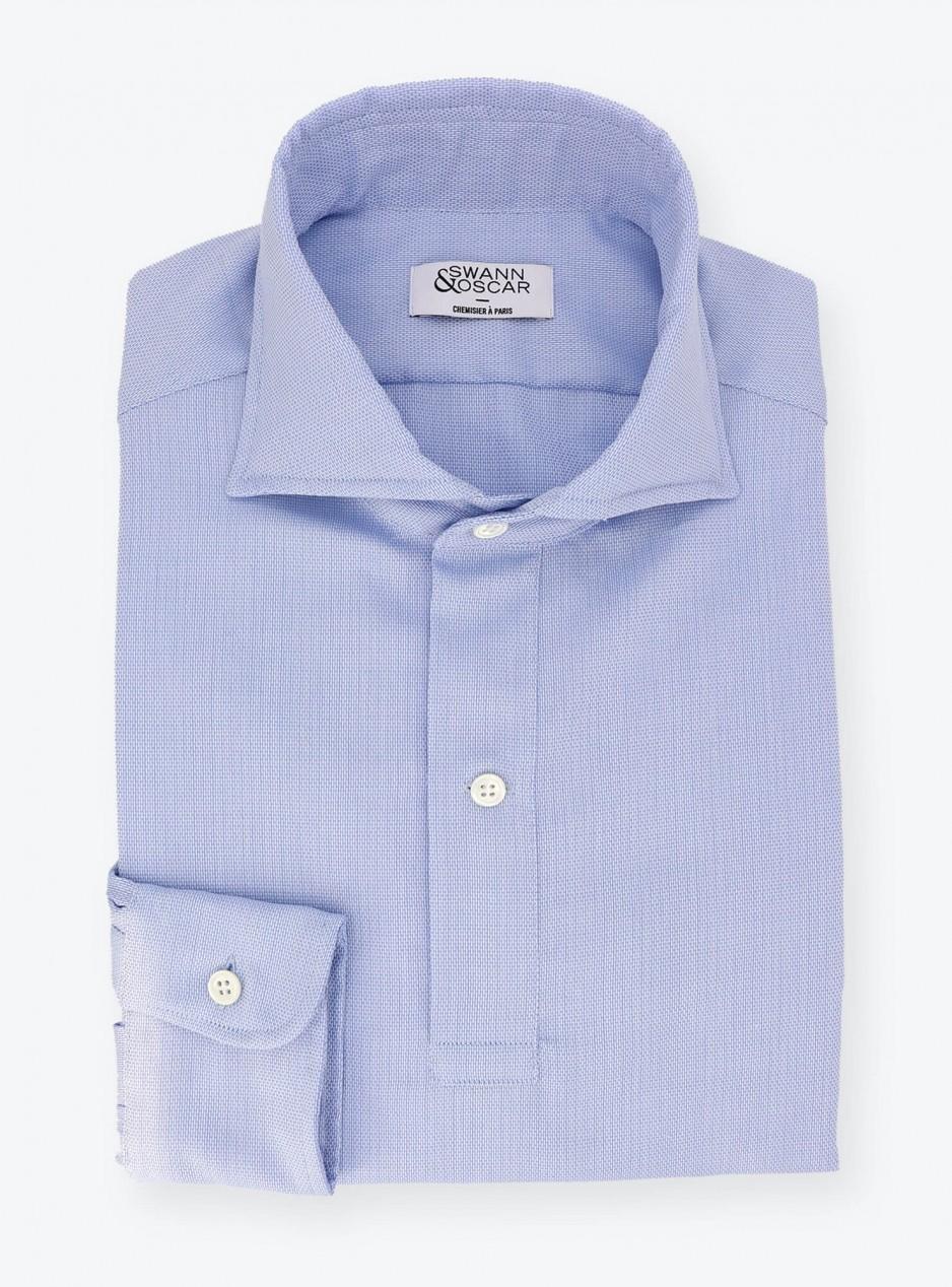 Shirt Giro Inglese Plain Blue