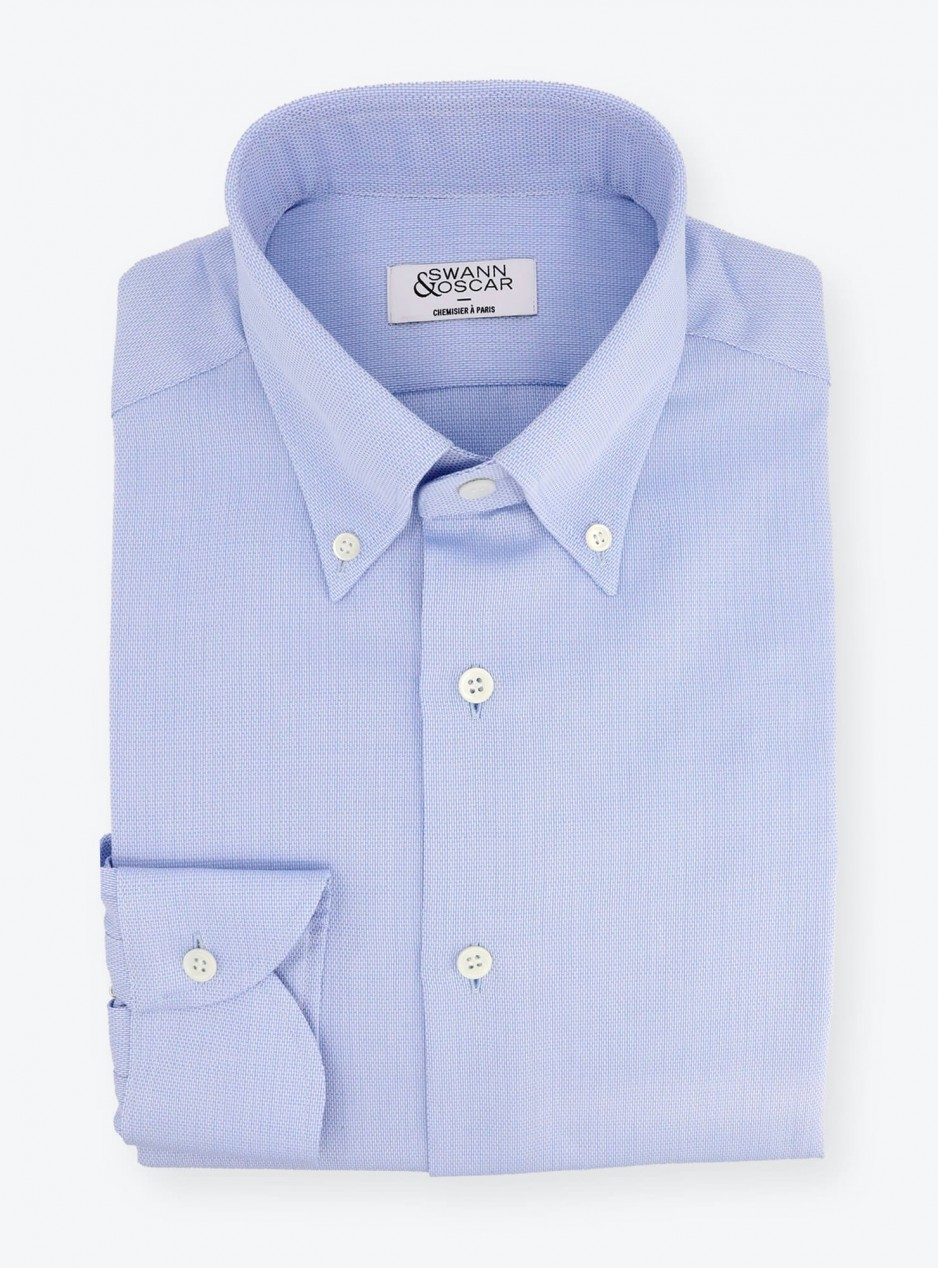 Shirt Giro Inglese Plain Blue
