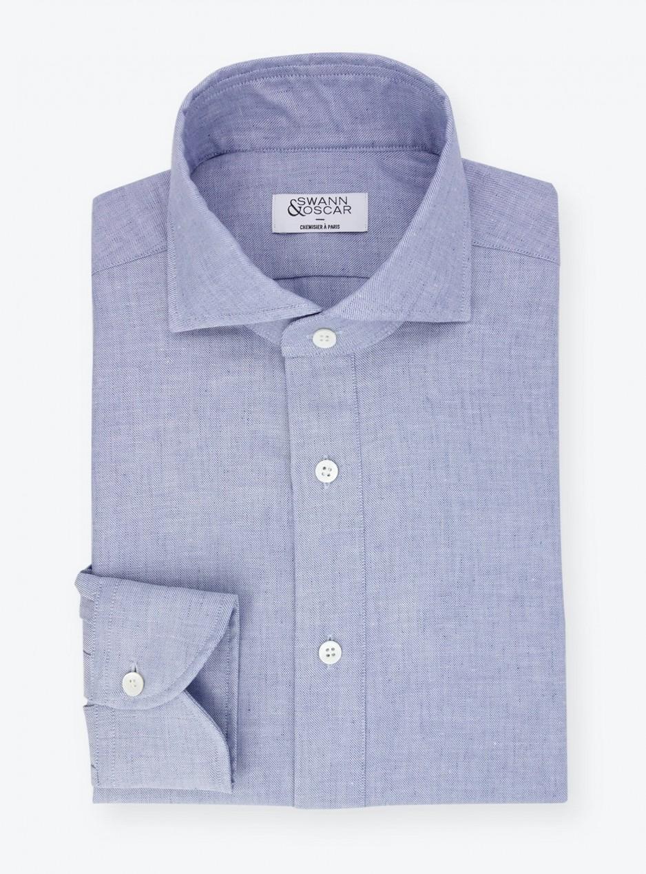 Shirt Twill Plain Blue