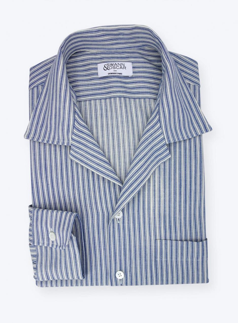 Denim Shirt Blue Stripes