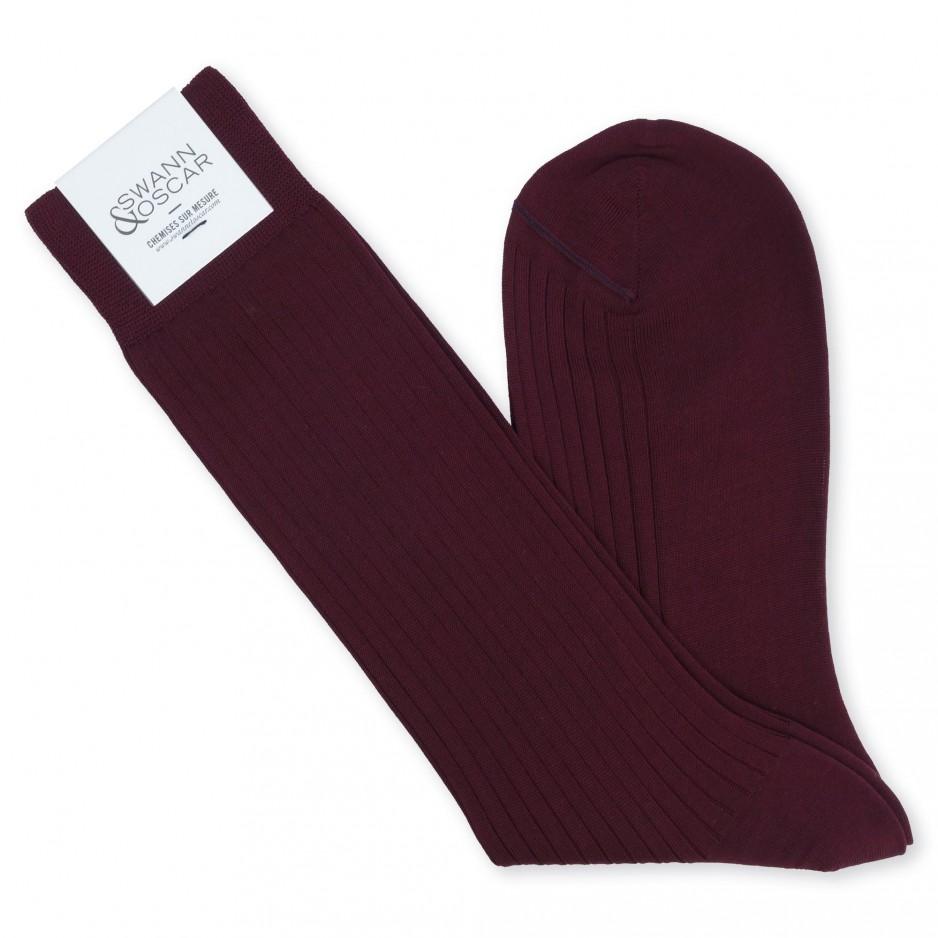 Burgundy Socks (Low)