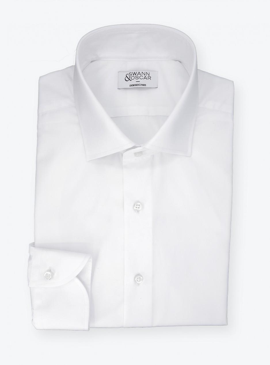 Poplin Shirt Plain White (easy care)