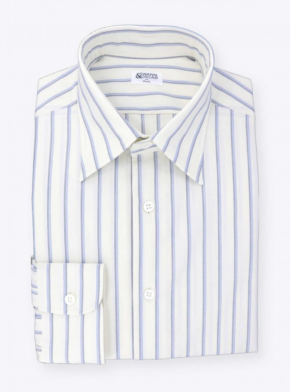 Vintage Shirt Blue Stripes